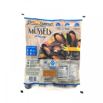 Boiled Whole Shell Black Mussel